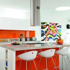 Zingy orange kitchen
