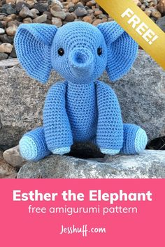 Esther which Elephant Free Amigurumi-sample # . : Esther which Elephant Free Amigurumi samples the Crochet Elephant Pattern Free, Crochet Amigurumi Free Patterns, Crochet Animal Patterns, Stuffed Animal Patterns, Crochet Dolls, Free Crochet, Crochet Animals, Stuffed Animals, Diy Crochet Elephant