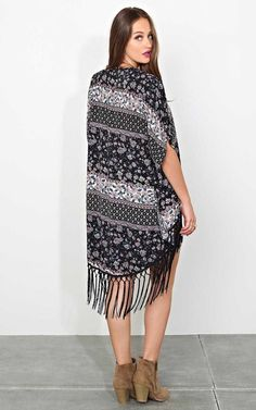 #FashionVault #styles for less #Women #Sweaters & Cardigans - Check this : Bali Floral Woven Wrap - - Black Combo in Size by Styles For Less for $15 USD