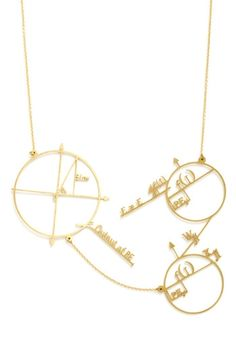 ModCloth : Cute and Astute Math Necklace Geek Jewelry, Cute Jewelry, Jewelry Box, Jewelery, Jewelry Accessories, Jewelry Clasps, Jewelry Trends, Jewelry Design, Geometric Necklace