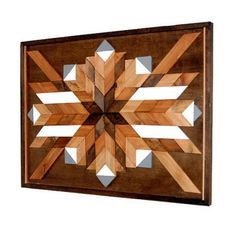 This is a real statement piece! In stock and ready to ship!  Inspired by Southwestern Art, this piece is made from reclaimed cedar.  The cedar