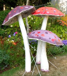 Paper Mache Mushrooms! My Petal Press Garden Blog: Backyard Wedding