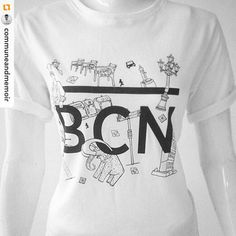 😎🌴 Barcelona #tshirt #comingsoon. My illustrations inspired #communeandmemoir…