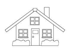Huse Tegninger til Farvelægning. Printbare Farvelægning for børn. Tegninger til udskriv og farve nº 12