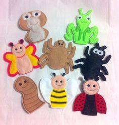 GARDEN INSECTS FINGER PUPPETS SET PATTERNS – OFNAH