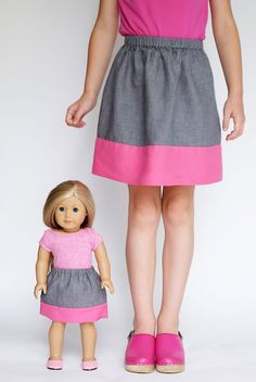 link to free Oliver + S Lazy Days Skirt with double-thickness hem pattern