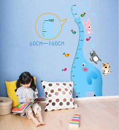 elephant growth chart decals or elephant  decals by stickershut, $42.00