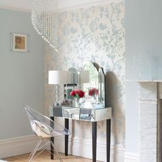 Create zones in the bedroom | Bedroom wallpaper ideas - 10 best | housetohome.co.uk