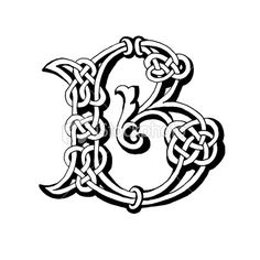 Celtic letter B Royalty Free Stock Photo