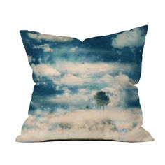 The wide open skies are yours on this breathtaking, surreal throw pillow. Its dreamy skyscape brings boundless calming energy into your space. With an inset zipper and smooth poly weave, it's an easy-c...  Find the Into the Stars Pillow, as seen in the To the Moon and Back Collection at http://dotandbo.com/collections/to-the-moon-and-back?utm_source=pinterest&utm_medium=organic&db_sku=103454