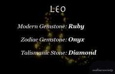 Zodiac Society Leo.... good to know.. I now have an excuse to buy something w onxy n diamonds.. haha