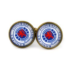 Rangers F.C Logo cufflinks. Rangers Football Club cuff links. Football  fan gift.  Personalised Silver Men's jewelry accessories gift. by Mysstic on Etsy