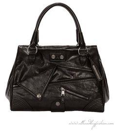 Alexander McQueen BLACK BIKER FAITHFUL BOWLER BAG