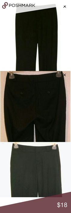 Banana Republic black dress pants Size 6 Regular Cuffed pant legs. Excellent condition. 6R Banana Republic Pants