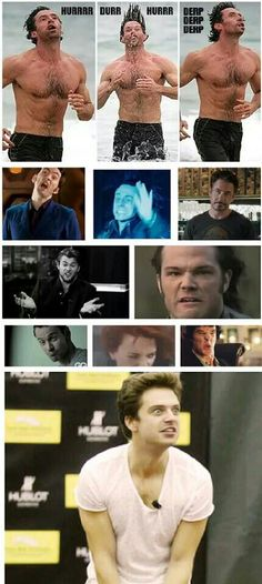 Beautiful men, with a derp face...