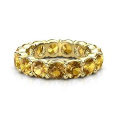 14K Yellow Gold Ring with Citrine - lay_down