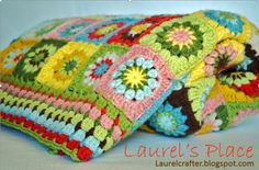 floral granny crochet blanket free pattern