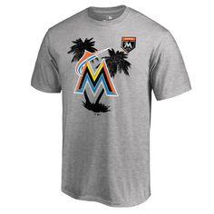 Men's Miami Marlins Fanatics Branded Heather Gray 2018 MLB Spring Training Vintage T-Shirt