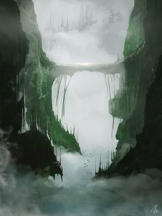 Misty Valley by Miguel Fonseca   Fantasy   2D   CGSociety