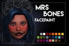 Mrs Bones Facepaint by Weepingsimmer at SimsWorkshop • Sims 4 Updates