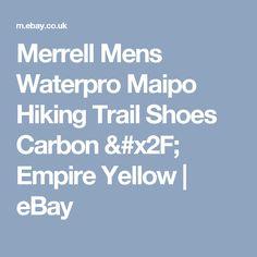 Merrell Mens Waterpro Maipo Hiking Trail Shoes Carbon / Empire Yellow  | eBay