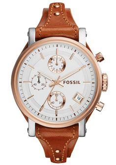 Fossil Chronograph, »Original Boyfriend, ES3837« in kastanienbraun