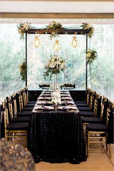Masquerade Black And Gold Wedding