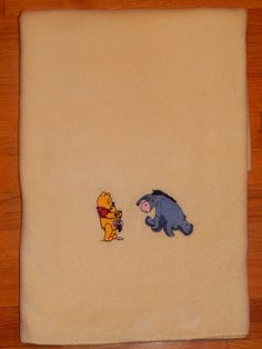 Winnie the Pooh Yellow Fleece Baby Blanket by CraftingByTheWayside $20.00 Make it personal...add a name!  #craftshout