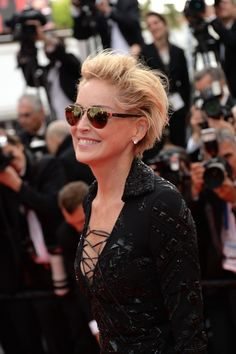 Sharon Stone short hairstyle