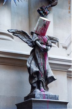 Angel with Paint Tin (Banksy vs Bristol Museum) 2009