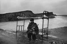A Mujahid Guards The Road to Kabul, Afghanistan, 1992, Abbas
