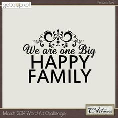 Word Art Challenge - March 2014 only at Gotta Pixel!  Participate to earn Pixel Points!