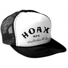 HOAX: Read Between the Lies - Trucker Cap (Black / White) - http://Wasted-Box.com
