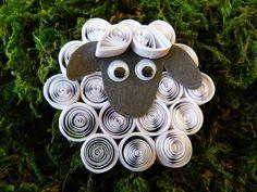 Ovečka - quilling - jarné aktivity pre deti