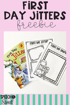 First Day Jitters is the perfect book for back to school! This is a great read to use in speech-language therapy! This freebie addresses sequencing, comparing/contrasting, and daily routines!