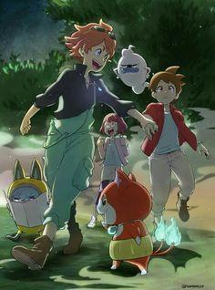 I don't know who the redhead is Anime Fnaf, Manga Anime, Anime Art, Awesome Anime, Anime Love, Yo Kai Watch 2, Pokemon, Japanese Cartoon, Kawaii