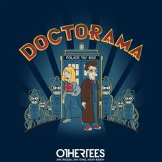"""Doctorama"" by shumaza Shirt on sale until 10 June on othertees.com Pin it for a chance at a FREE TEE! #futurama #drwho #doctorwho"