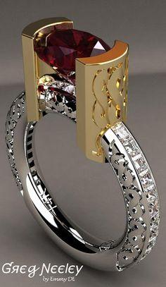 Brilliant Luxury by Emmy DE * Greg Neeley Infinity Ring