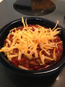 Mom's Chili ,leave out the chili beans for Atkins phase 1 induction diet.My kind of Chili :)