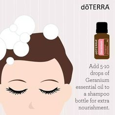 Summer hair needs extra nourishment in order to stand up to all of those fun outdoor activities. Try this tip with Geranium essential oil for healthier hair.
