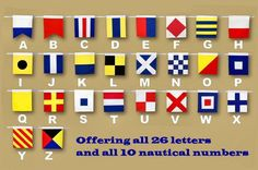 Nautical Signal Flags, Decorative Nautical Flags and Pennants