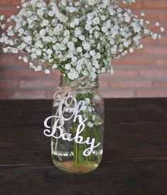 Oh Baby Baby Shower Decorations / Baby Shower Mason Jar Tags / Oh Baby Glitter Decor / Oh . - Oh Baby Baby Shower Decorations / Baby Shower Mason Jar Tags / Oh Baby Glitter Decor / Oh Baby Tags - Décoration Baby Shower, Fotos Baby Shower, Mesas Para Baby Shower, Simple Baby Shower, Baby Shower Themes, Baby Shower Gifts, Shower Ideas, Baby Shower Flowers, Shower Tips