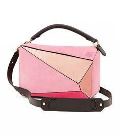 252b13f038d8 Loewe Small Puzzle Multi Suede Bag Suede Handbags