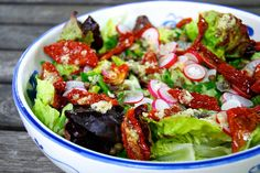 Radish, Caper & Semi-dried Tomato Salad with Homemade Lemon Garlic Dressing 2 by missrachelphipps, via Flickr