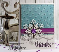 Stop and Stamp the roses: Snowflake Christmas thank you