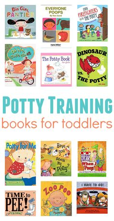 Awesome list of books for potty training. Once you are ready to make the leap use books to help you potty train your kids!