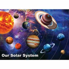 In the 300 piece jigsaw puzzle, Solar System by White Mountain, an augmented reality of the solar system is featured. This 300 piece puzzle is recommended for children ages 8 and up. Solar System Images, Our Solar System, 300 Piece Puzzles, Puzzle Pieces, Galaxy Pictures, Mosaic Crafts, Cross Paintings, Puzzles For Kids, Decoration