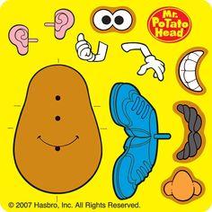 mr Potato Head Parts Coloring Pages