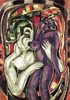 Jacqueline Ditt - Die Lust (The Lust) - universal arts Galerie Studio - Grafik Druck Kunstdruck nach Gemälde universal arts Galerie Studio edition http://www.amazon.de/dp/B00KXBCM48/ref=cm_sw_r_pi_dp_Zya8vb10E8S28