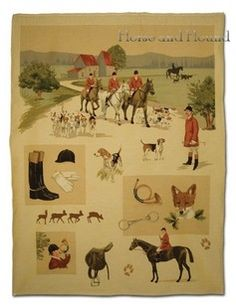 Horse Country Chic: Of Fall and Foxhunting Equestrian Decor, Equestrian Style, Trail Riding Horses, Horse Posters, Maps Posters, Large Tapestries, Fox Hunting, Hunting Art, Vintage Horse